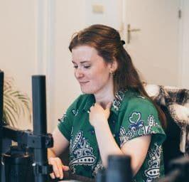 julia op kantoor